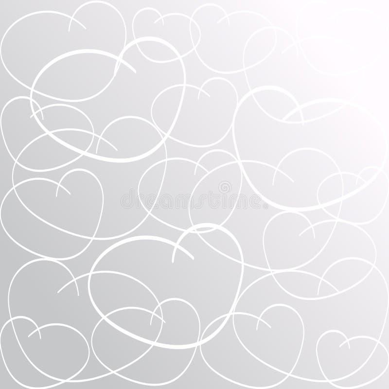 hintergrund liebes herz muster mit herzen getrennt auf wei inneres vektor abbildung. Black Bedroom Furniture Sets. Home Design Ideas