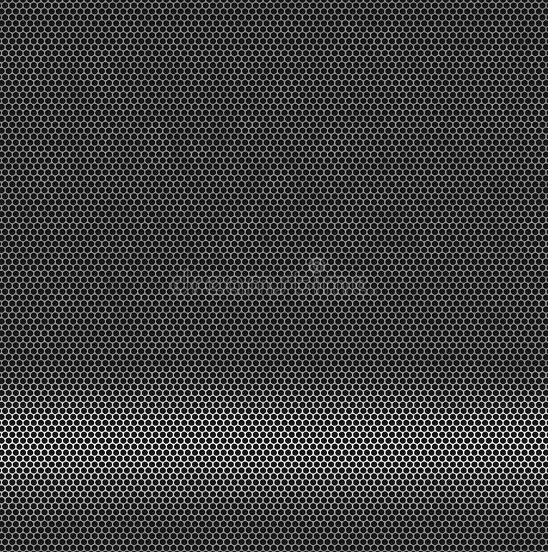 Hintergrund - Metalloberfläche mit Löchern stock abbildung