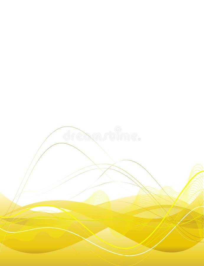 Hintergrund mit abstrakten glatten Zeilen lizenzfreie abbildung