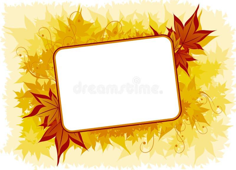 Hintergrund mit Ahornholzblättern stock abbildung
