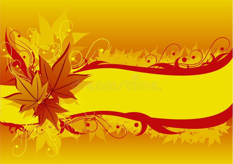 Hintergrund mit Ahornholzblättern vektor abbildung
