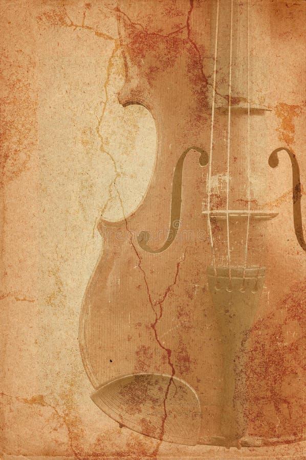 Hintergrund mit alter Geige lizenzfreie abbildung