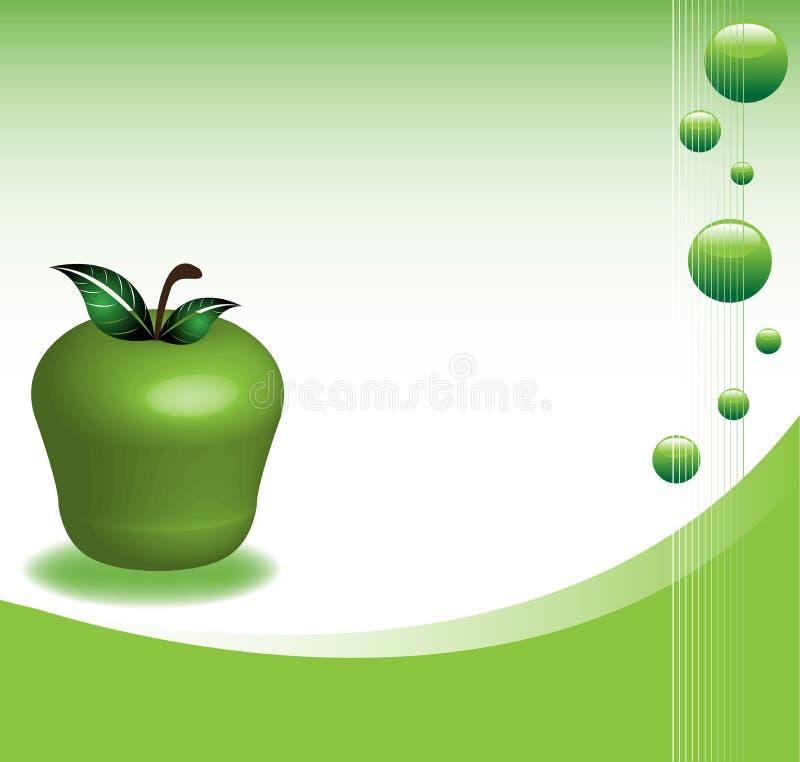 Hintergrund mit Apfel lizenzfreie abbildung