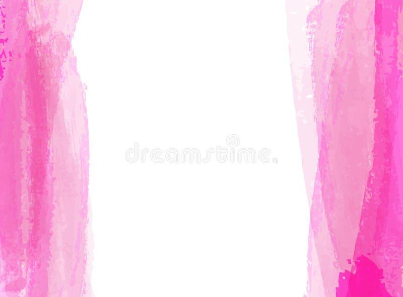 Hintergrund mit Aquarell bürstete Linien vektor abbildung
