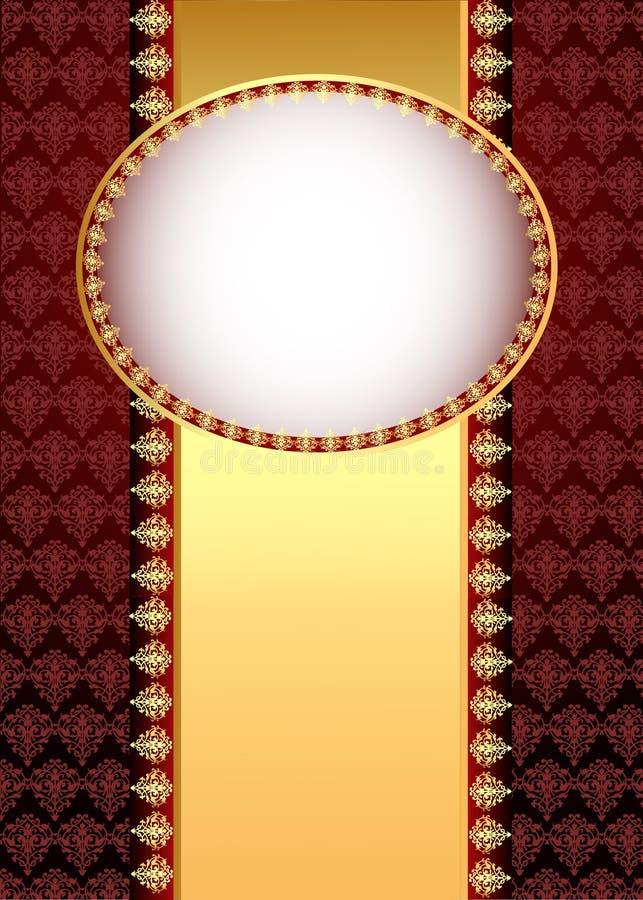 Hintergrund mit Band mit Gold (en) patt lizenzfreie abbildung
