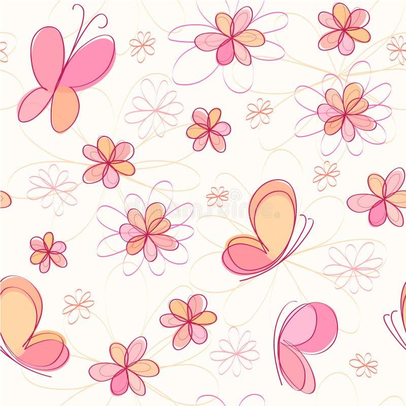 Hintergrund mit Basisrecheneinheit und Blumen vektor abbildung