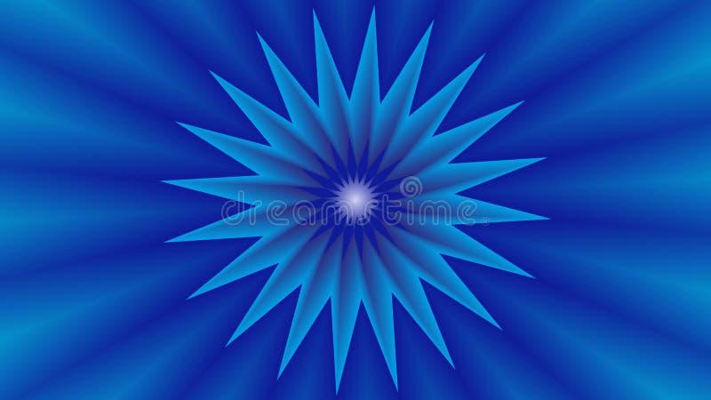 Hintergrund mit blauem Stern in der Mitte lizenzfreie stockfotos
