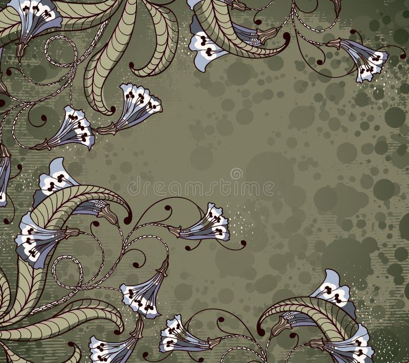 Hintergrund mit blauen Blumen vektor abbildung