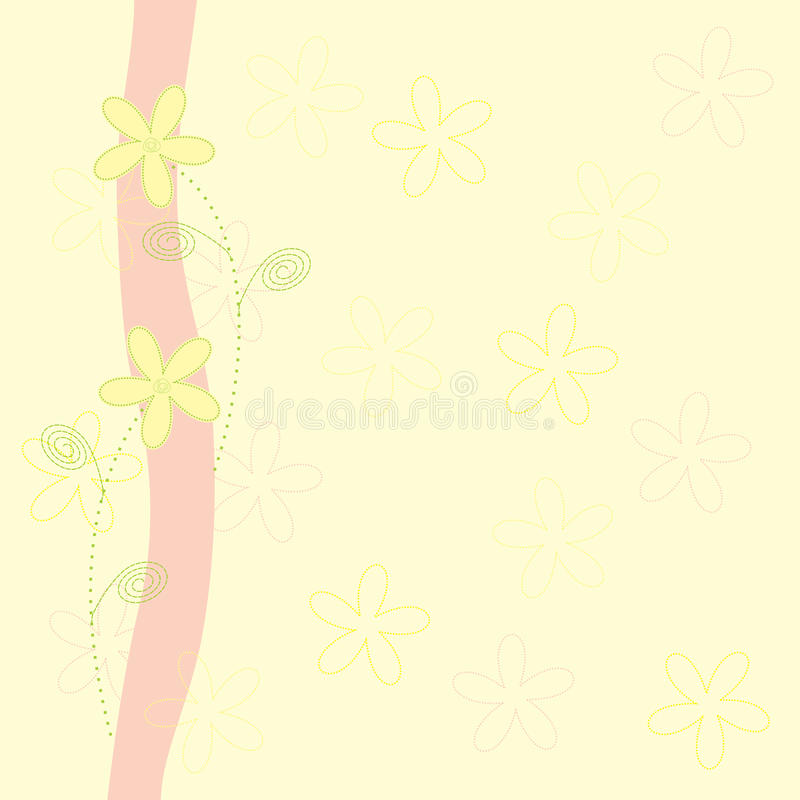 Hintergrund mit Blumen vektor abbildung