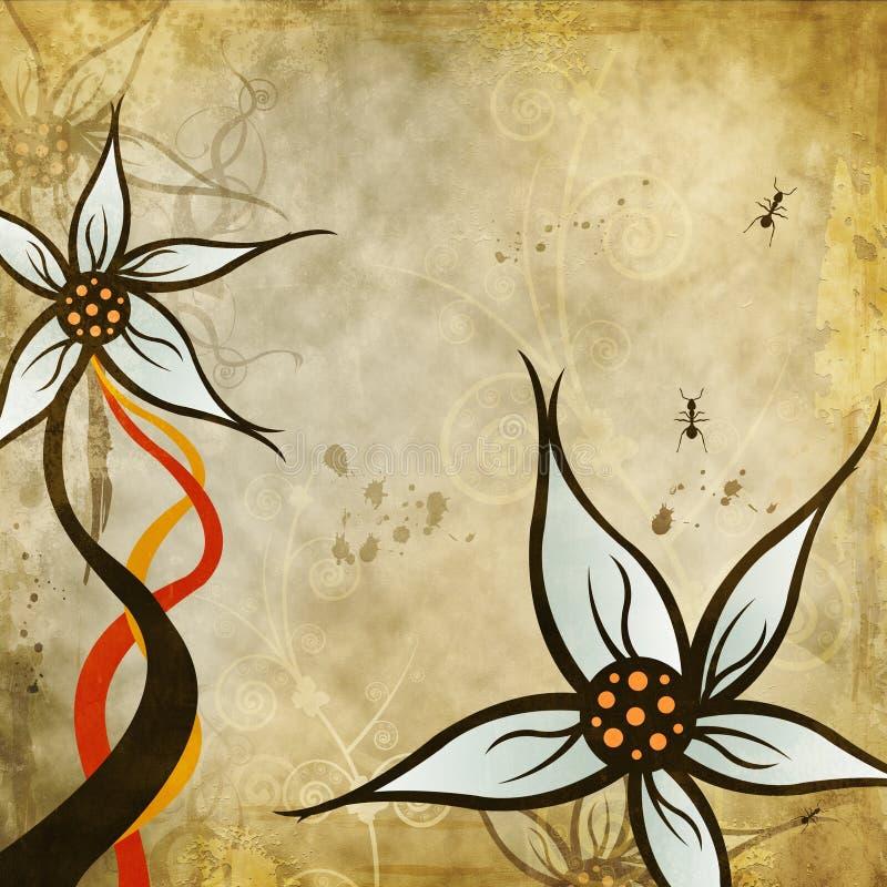 Hintergrund, mit Blumen, Auslegung stock abbildung