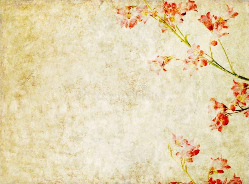 Hintergrund mit Blumenelementen stock abbildung
