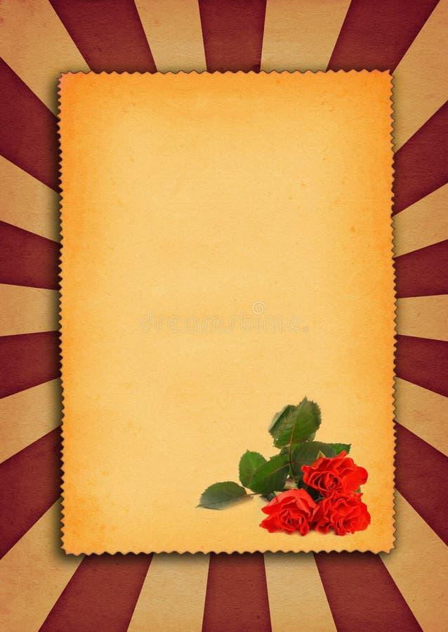 Hintergrund mit Blumenmotiv lizenzfreie abbildung