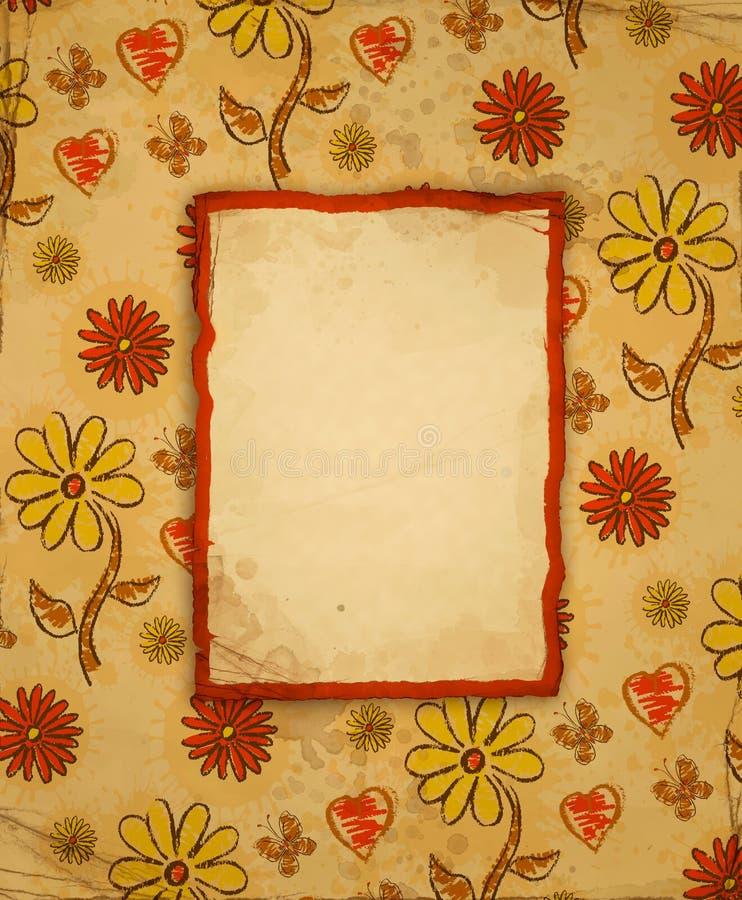 Hintergrund mit Blumenmuster stock abbildung