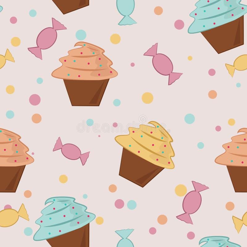 Hintergrund mit Bonbons stock abbildung