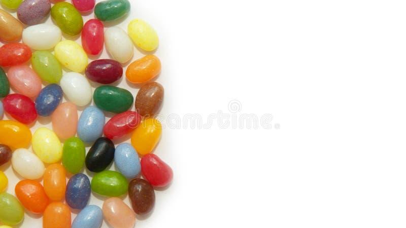 Hintergrund mit Bonbons - Geleebohnen stockbilder