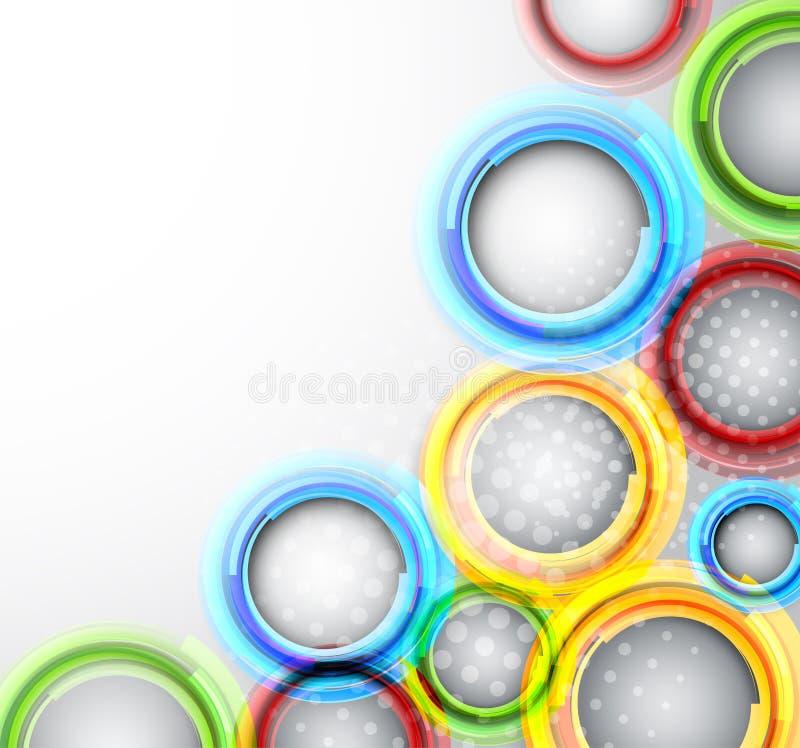 Download Hintergrund Mit Bunten Kreisen Vektor Abbildung - Illustration von flüssigkeit, farbe: 26353761