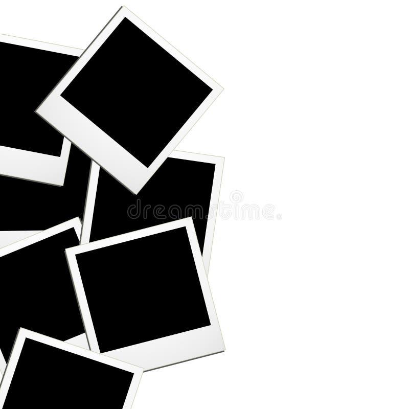 Hintergrund mit Collage von Polaroiden lizenzfreie abbildung