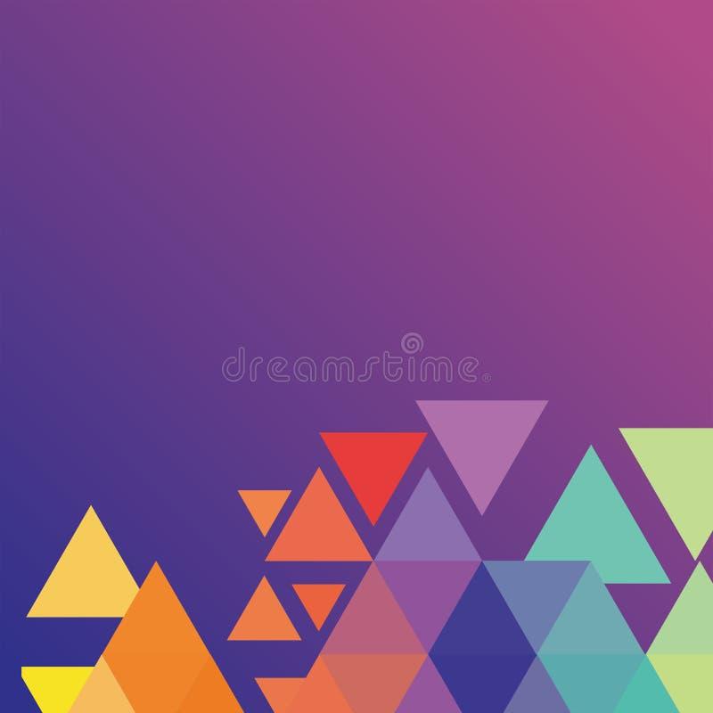 Hintergrund mit Colorize-Dreieck stockfotos