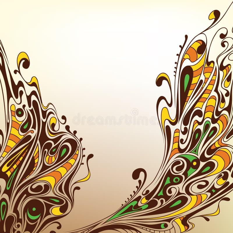Hintergrund mit dekorativen Zeilen vektor abbildung