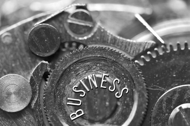 Hintergrund mit dem Aufschrift GESCHÄFT Schwarzer weißer Hintergrund lizenzfreies stockfoto