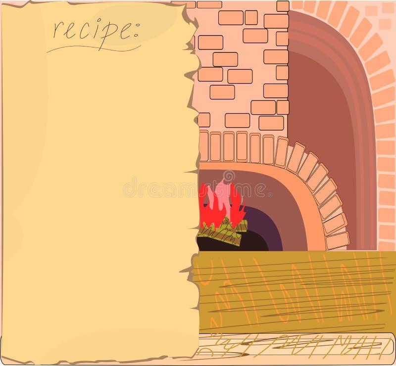 hintergrund mit dem rezept vektor abbildung illustration von ofen 44260382. Black Bedroom Furniture Sets. Home Design Ideas