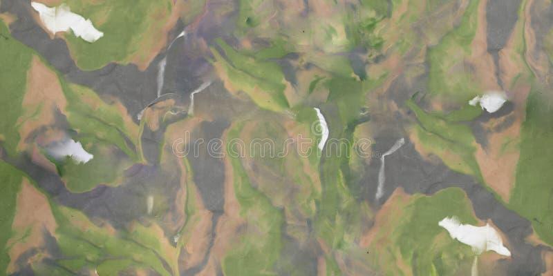 Hintergrund mit den Fingerabdrücken gemacht vom Spiel-Lehm stock abbildung