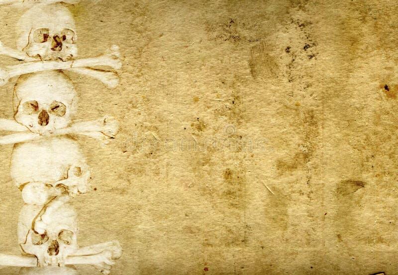 Hintergrund mit den menschlichen Schädeln und den Knochen vektor abbildung