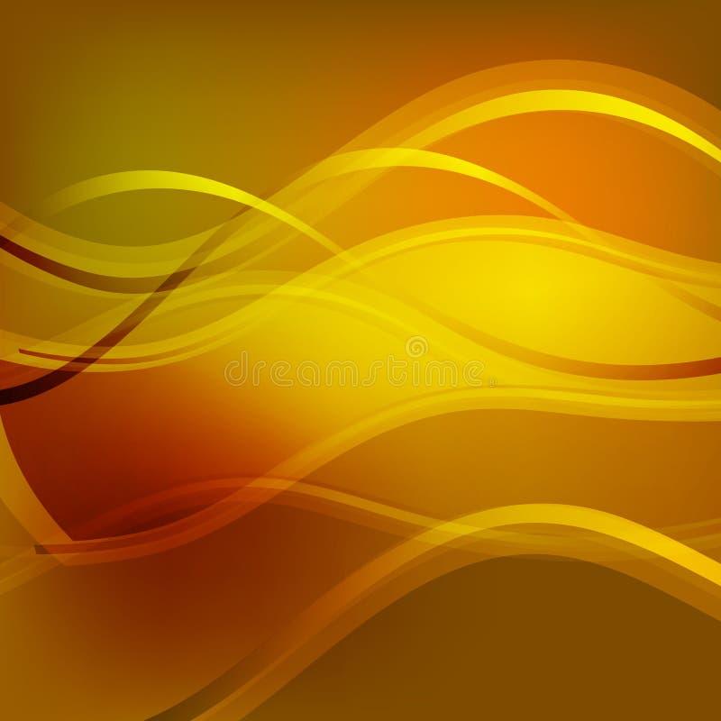 Hintergrund mit den Wellen orange stockfotografie