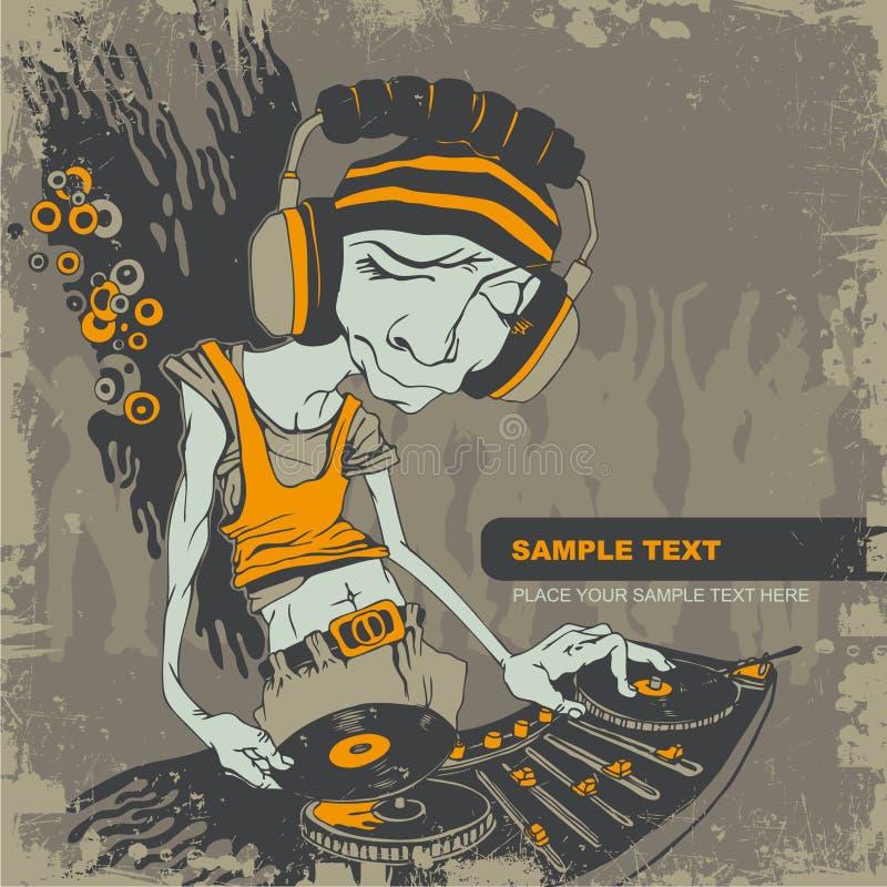 Hintergrund mit DJ stock abbildung