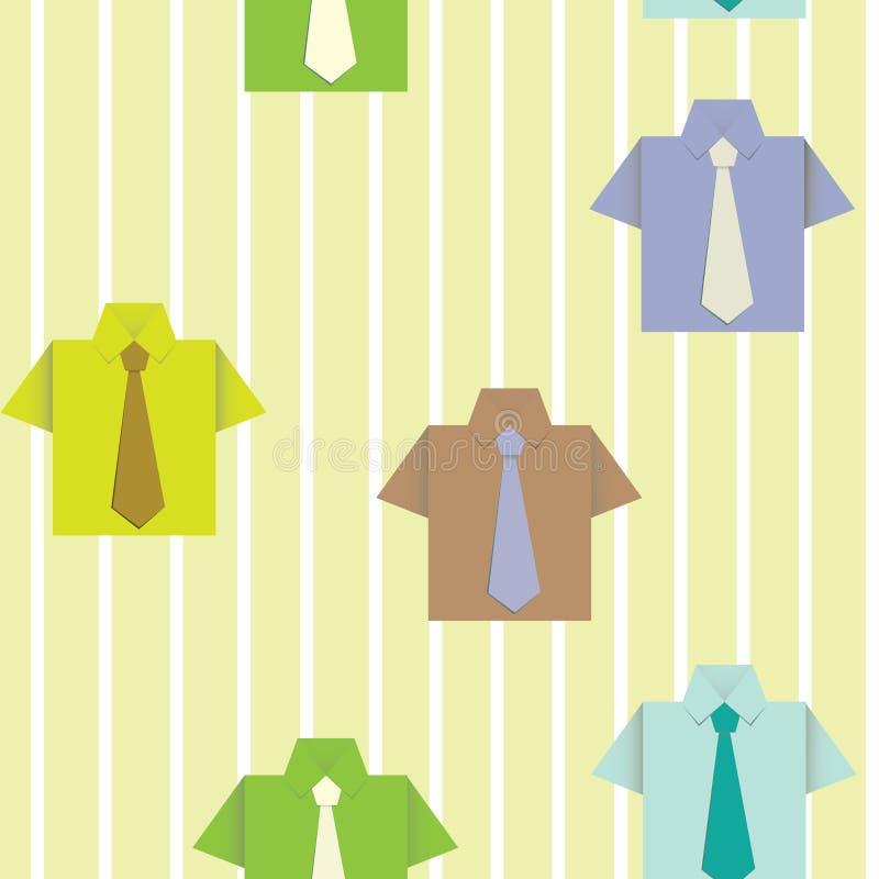 Hintergrund mit einem Hemd stock abbildung