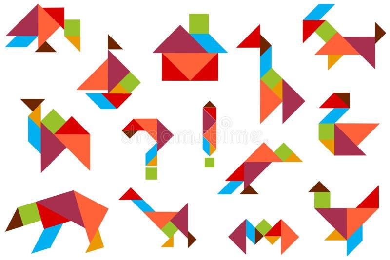 Hintergrund mit einem Satz Zahlen vom Puzzlespiel bessert aus lizenzfreie abbildung