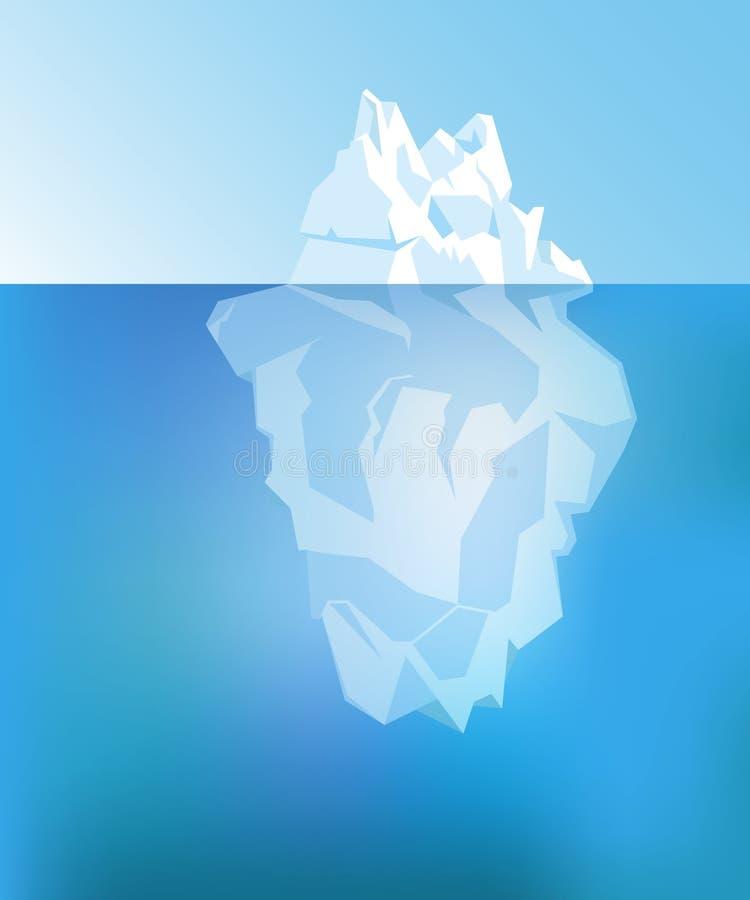Hintergrund mit Eisberg Vektor lizenzfreie abbildung