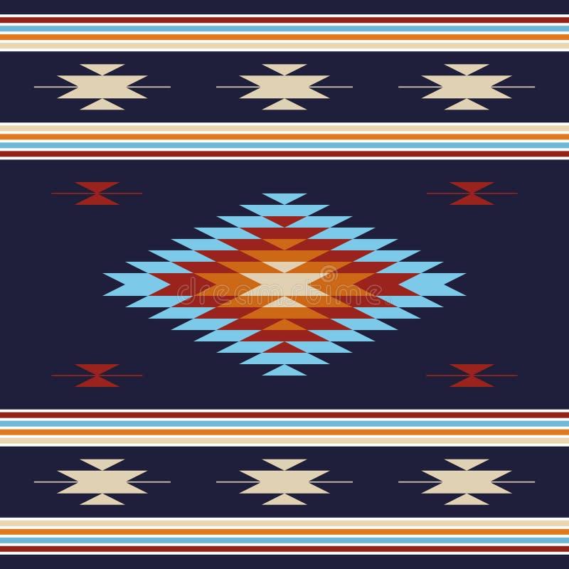 Hintergrund mit ethnischen Motiven stock abbildung
