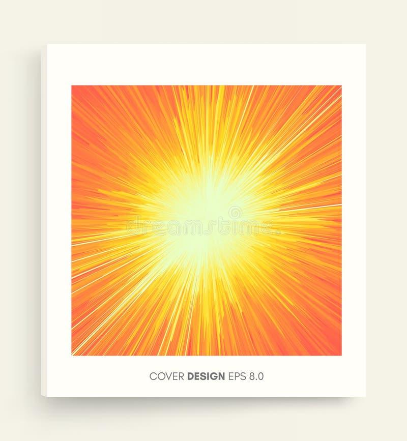 Hintergrund mit Explosion Dynamische Linien Starburst Abdeckungsdesignschablone vektor abbildung