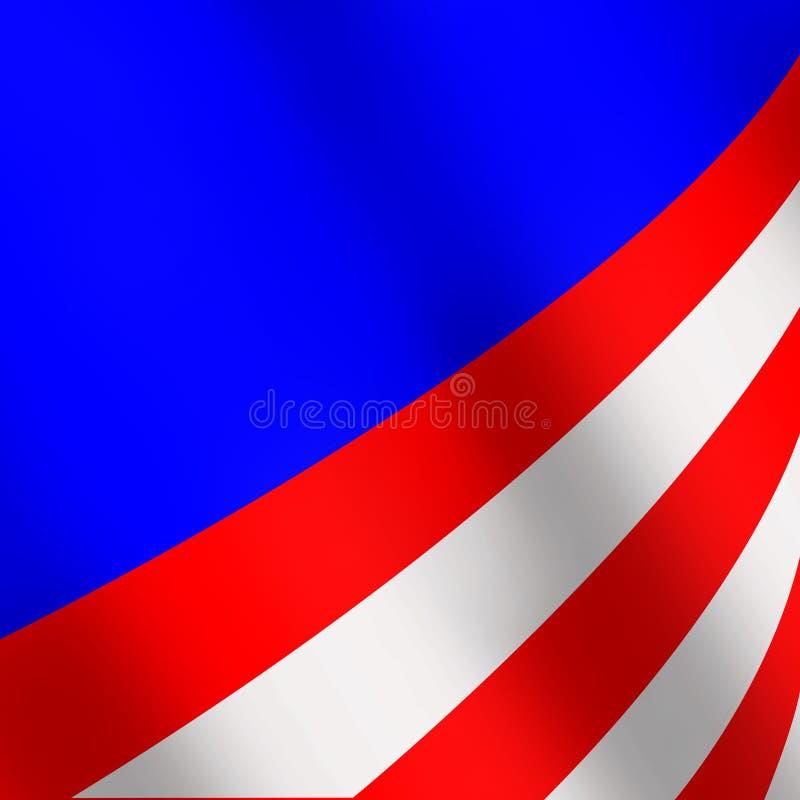 Hintergrund mit Farben der amerikanischen Flagge lizenzfreies stockbild