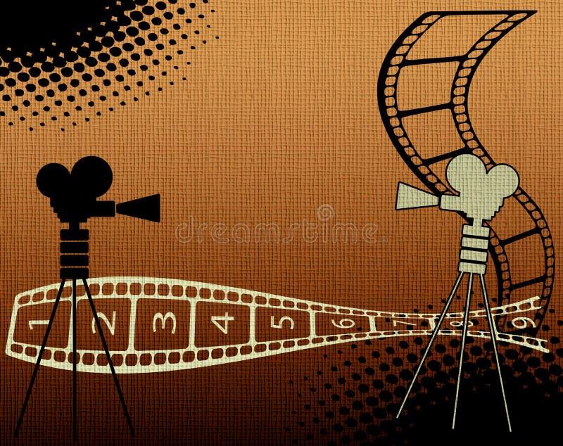Hintergrund mit Filmstreifen stock abbildung