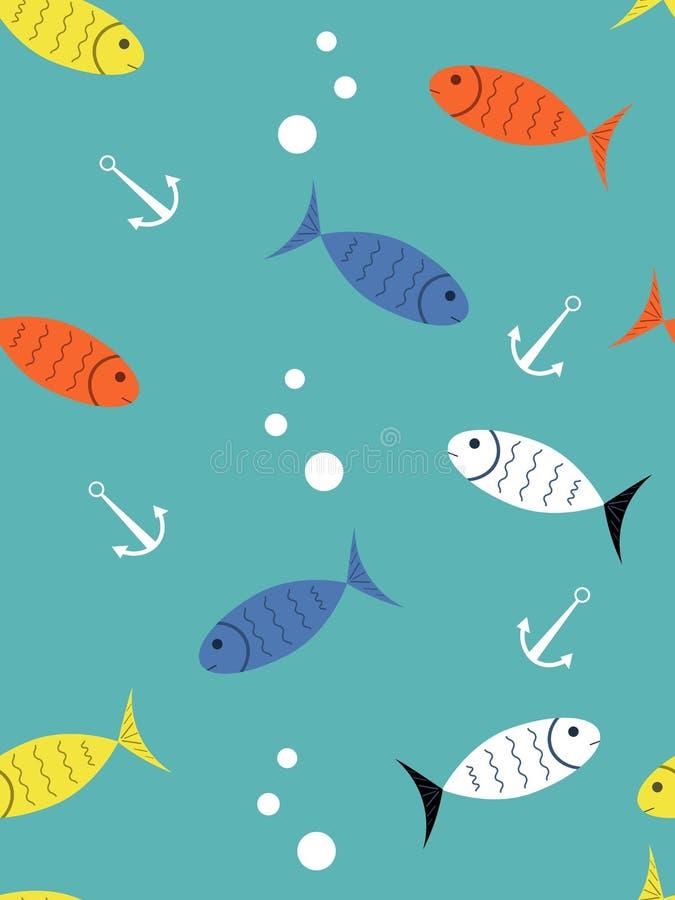 Hintergrund mit Fischen lizenzfreie abbildung