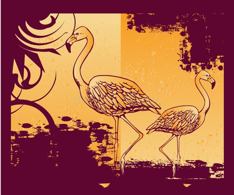 Hintergrund mit Flamingo lizenzfreie abbildung