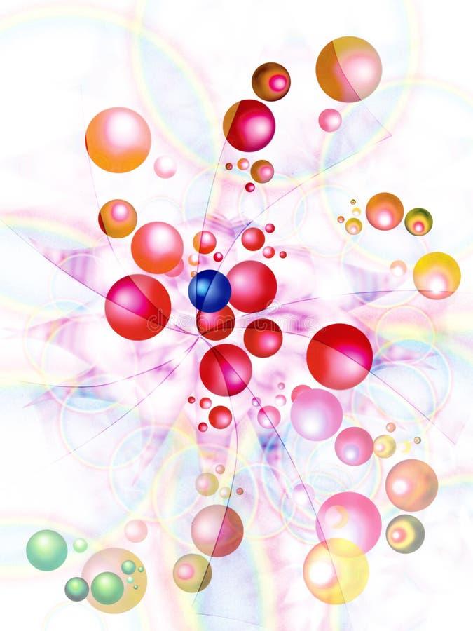 Hintergrund mit fliegenden wegkugeln vektor abbildung