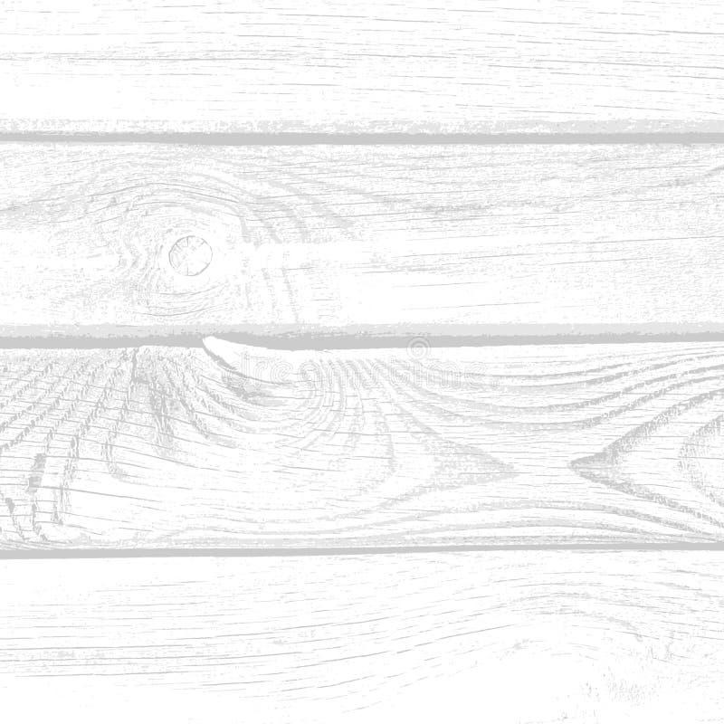 Hintergrund mit gealterten des weißen Holzes grungy und strukturierten Planken vektor abbildung