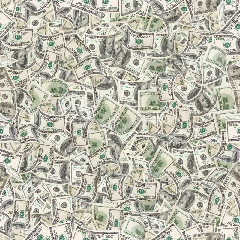 Hintergrund mit Geld Nahtlose Beschaffenheit stockbild