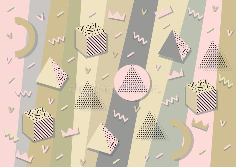 Hintergrund mit geometrischen Formen stock abbildung
