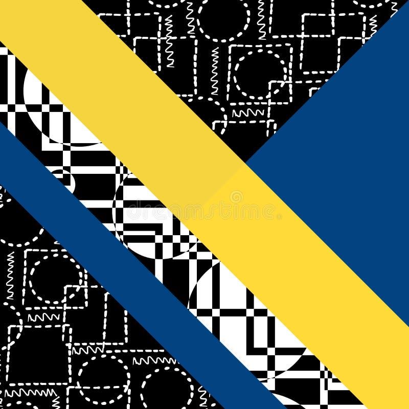 Hintergrund mit geometrischen Formen lizenzfreie abbildung