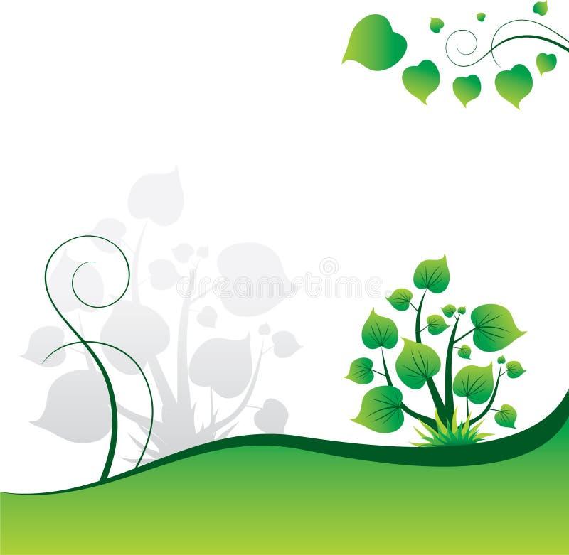 Hintergrund mit grünen Blättern lizenzfreie abbildung