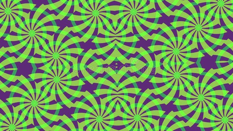 Hintergrund mit grünen purpurroten Elementen stockfotos