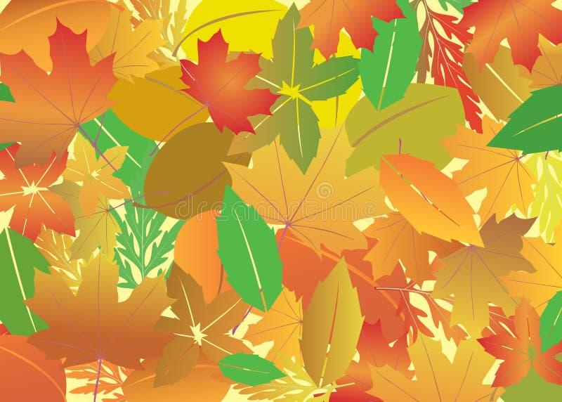 Hintergrund mit hellen Blättern des Herbstes vektor abbildung