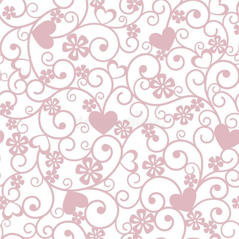 Hintergrund mit Herzen stock abbildung