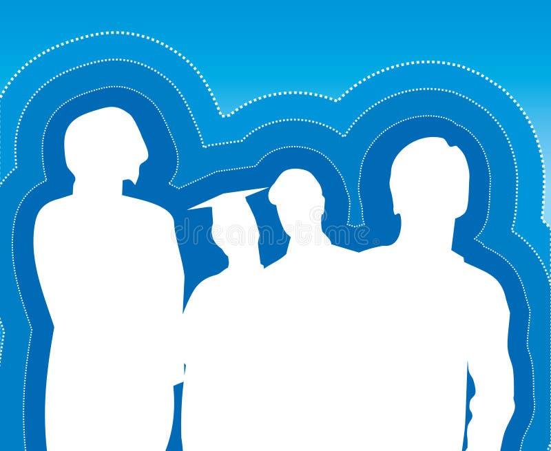 Hintergrund mit Kursteilnehmern stock abbildung