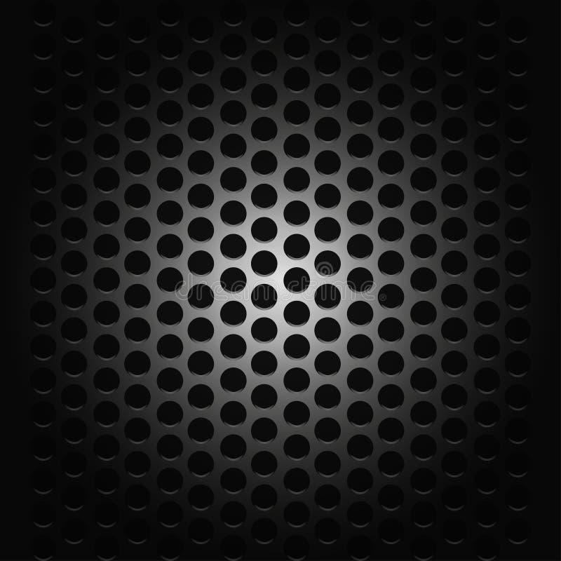 Hintergrund mit Leidenschaft für schwarzes Gitter der Musik lizenzfreie abbildung