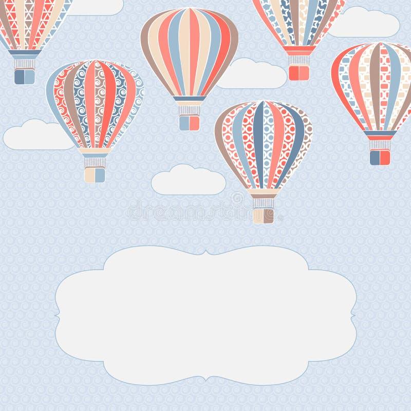 Hintergrund mit Luftballonen lizenzfreie abbildung